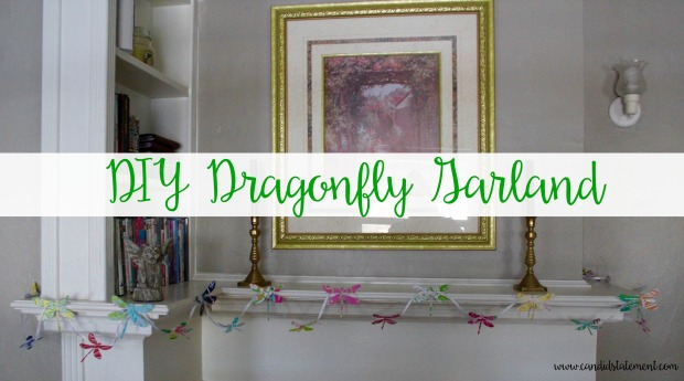 DIY Dragonfly Garland // Candid Statement