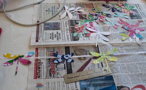 DIY Dragonfly Garland